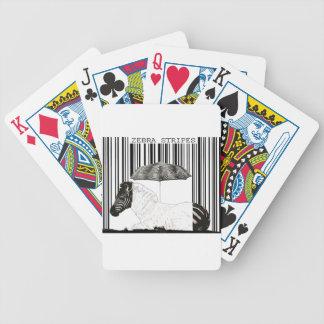 Código de barras de la cebra barajas de cartas