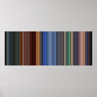 Código de barras de la película del héroe póster