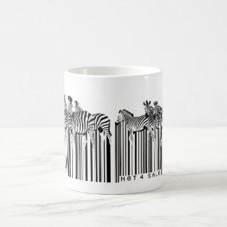 código de barras de las cebras taza básica blanca