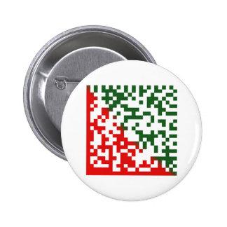 Código de barras de las Felices Navidad Pin Redondo 5 Cm