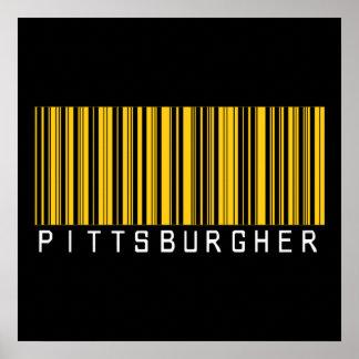 Código de barras de Pittsburgher Póster