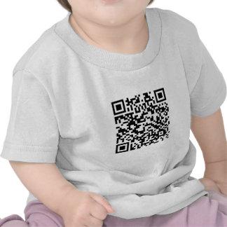 Código de barras de QR Gracias por explorarme… Camisetas
