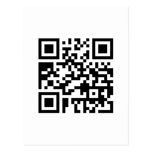 Código de barras de QR: ¿Quiera tener una bebida Postal