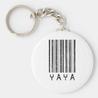 Código de barras de YaYa Llavero Redondo Tipo Pin