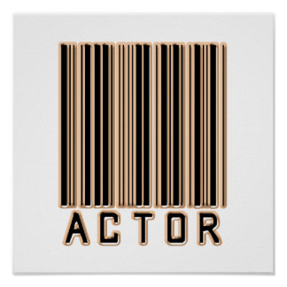 Código de barras del actor posters