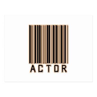 Código de barras del actor postal
