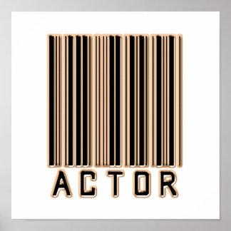 Código de barras del actor póster