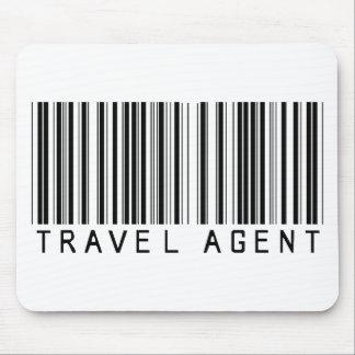 Código de barras del agente de viajes alfombrillas de ratones