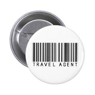 Código de barras del agente de viajes pin