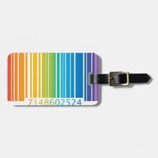 Código de barras del arco iris etiqueta para equipaje
