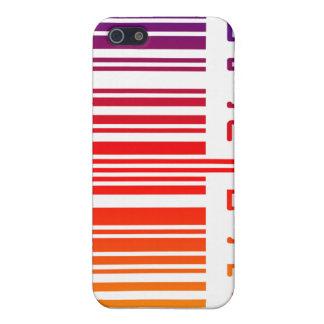 Código de barras del arco iris iPhone 5 carcasa
