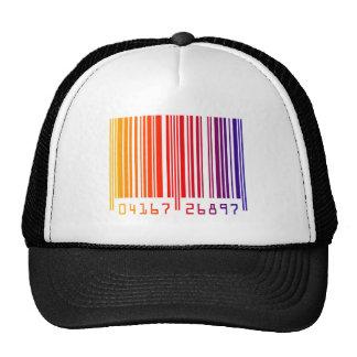 Código de barras del arco iris gorras