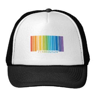 Código de barras del arco iris gorras de camionero
