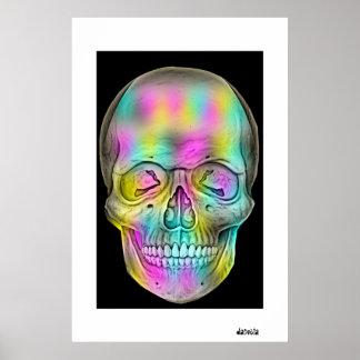 Código de barras del cráneo póster