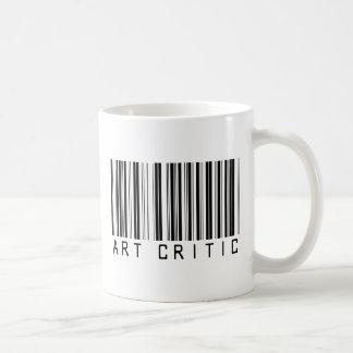 Código de barras del crítico del arte taza clásica