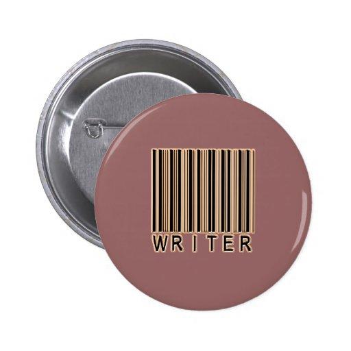 Código de barras del escritor pin