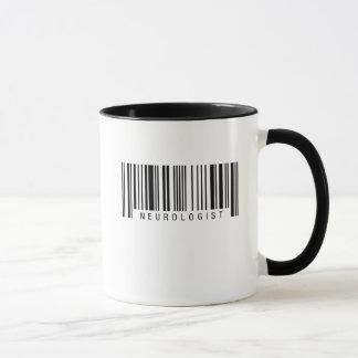 Código de barras del neurólogo taza