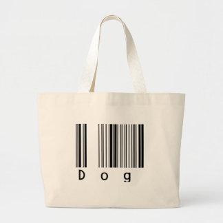 Código de barras del perro bolsa tela grande