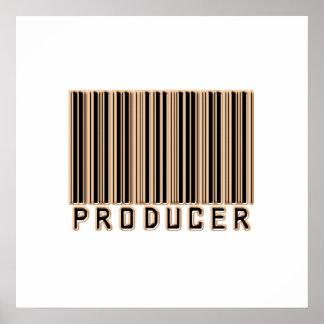 Código de barras del productor poster
