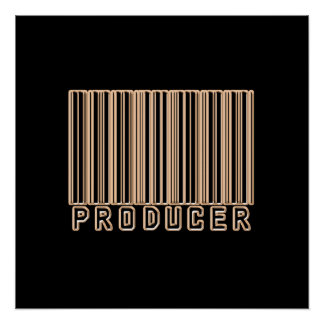 Código de barras del productor posters