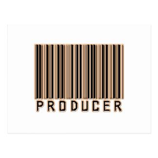 Código de barras del productor tarjetas postales