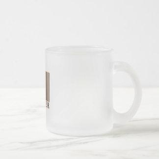 Código de barras del productor taza de cristal