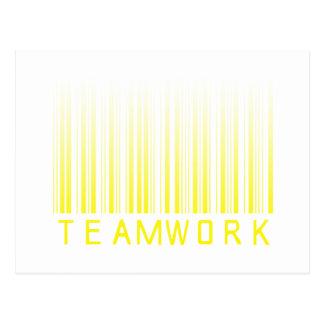 Código de barras del trabajo en equipo postal