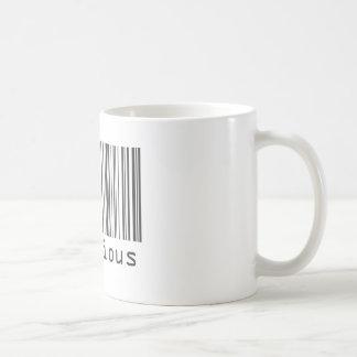 Código de barras - delicioso taza clásica