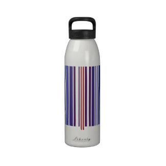 Código de barras doble del arco iris botellas de beber