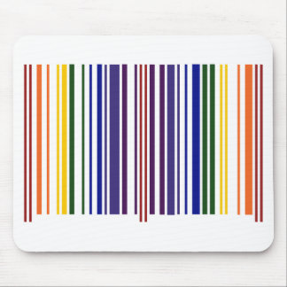 Código de barras doble del arco iris alfombrillas de raton
