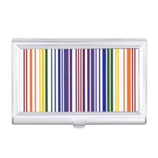 Código de barras doble del arco iris caja de tarjetas de negocios