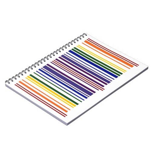 Código de barras doble del arco iris libreta espiral