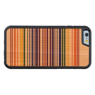 Código de barras doble del arco iris funda de iPhone 6 bumper cerezo