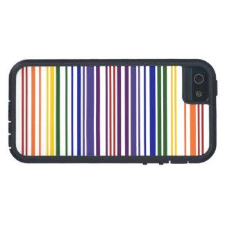 Código de barras doble del arco iris funda para iPhone 5 tough xtreme
