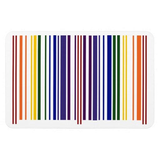 Código de barras doble del arco iris imán rectangular