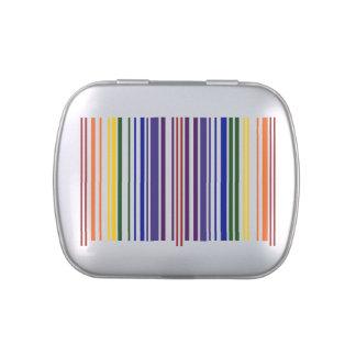 Código de barras doble del arco iris latas de dulces