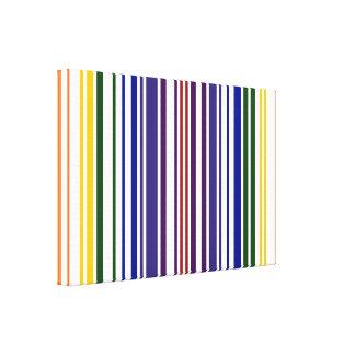Código de barras doble del arco iris impresión en lona