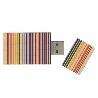 Código de barras doble del arco iris memoria USB 3.0 de madera