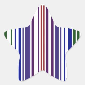 Código de barras doble del arco iris calcomanía cuadrada