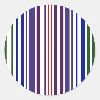 Código de barras doble del arco iris etiqueta redonda