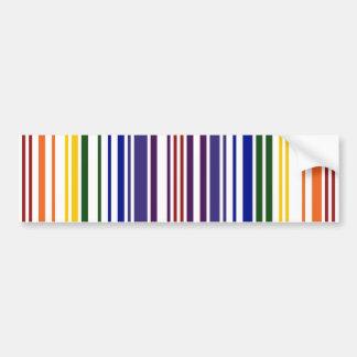 Código de barras doble del arco iris pegatina para auto