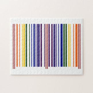 Código de barras doble del arco iris rompecabezas
