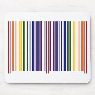 Código de barras doble del arco iris alfombrilla de ratón