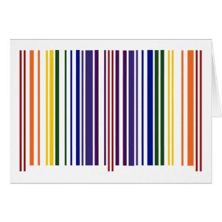 Código de barras doble del arco iris tarjeta de felicitación