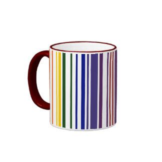 Código de barras doble del arco iris taza
