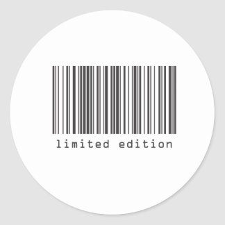 Código de barras - edición limitada pegatina redonda