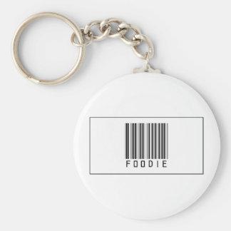 Código de barras Foodie Llavero Redondo Tipo Pin