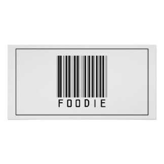 Código de barras Foodie Posters
