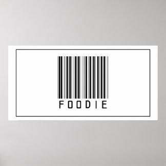 Código de barras Foodie Póster