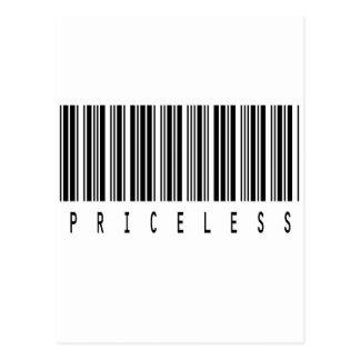 código de barras inestimable tarjetas postales